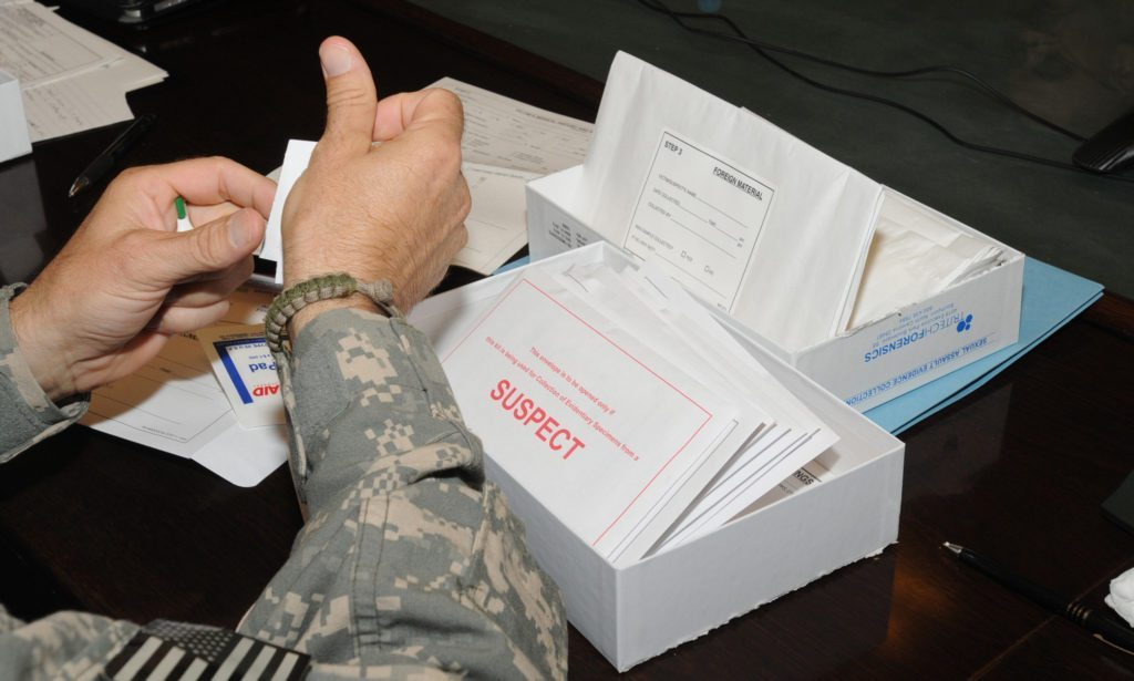 Photo via Rebecca Linder Medical professionals learn how to use the Sexual Assault Evidence Collection kit at Camp Phoenix near Kabul, Afghanistan, Aug. 15, 2010. In Nevada, there is a backlog of roughly 8,000 untested rape kits that date back to the 1980s.
