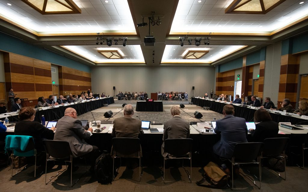 Nevada System of Higher Education's Board of Regents met at the university on Friday, Jan. 31 to discuss the upcoming national presidential search.  The board said they will try to get four presidential finalist.